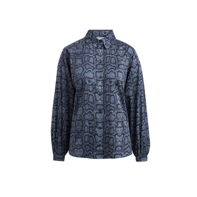 "Blouse ""BETTY"" python print blue"