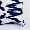 "Kissen ""IKAT BIG"" BLUE FANCY 80x80cm   Cotton_Struktur"