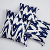 "Kissen ""IKAT BIG"" BLUE FANCY 40x40cm   Cotton_Struktur"