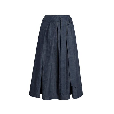 "Skirt ""DUFFY"" light organic-cotton denim"