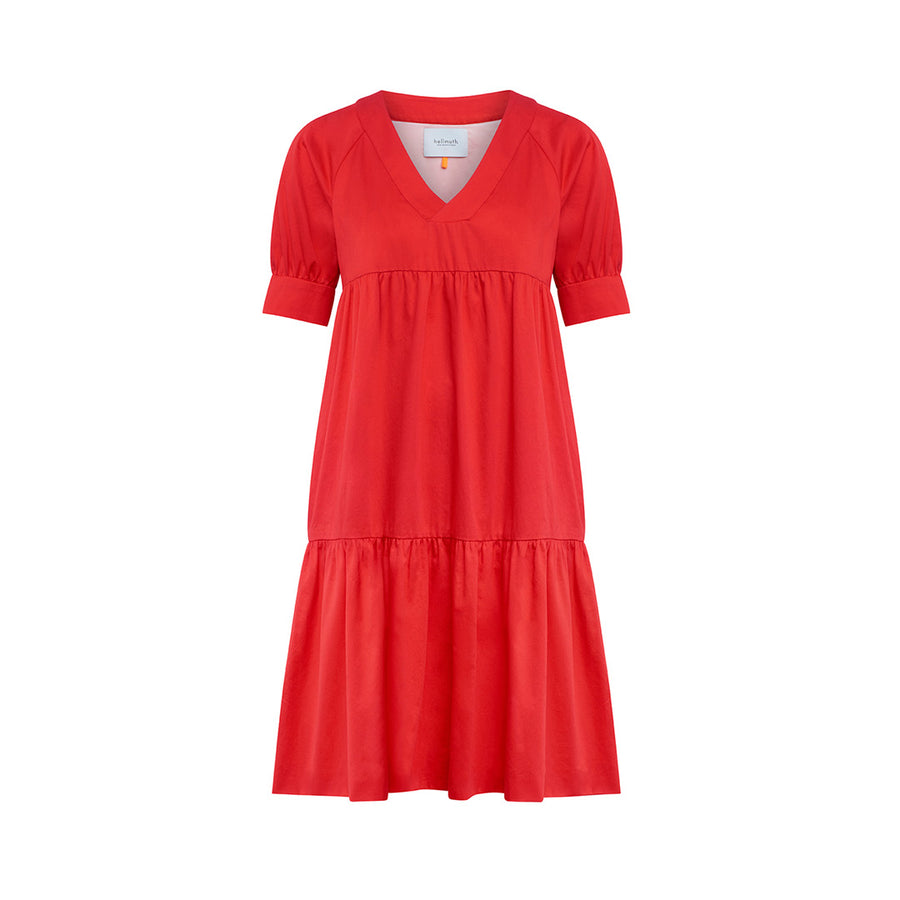 "Dress ""DANNY"" cottonsatin mars red"