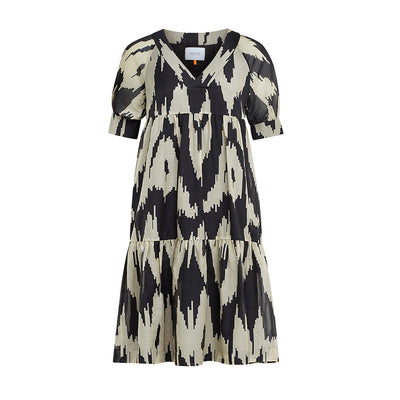 "Dress ""DANNY"" ikat black"