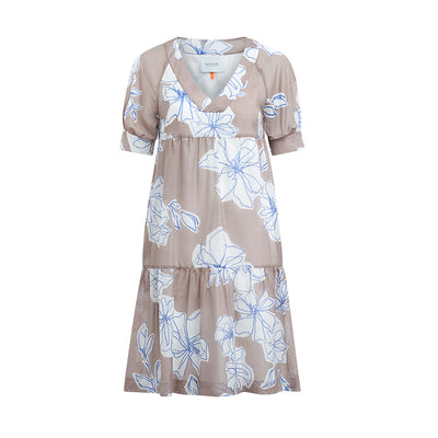 "Dress ""DANNY"" flower print rosewood"