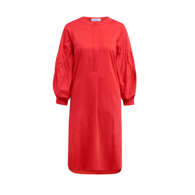 "Dress ""DUBLIN"" cotton satin red"