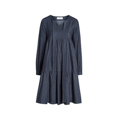 "Dress ""KIWI"" light organic-cotton denim"
