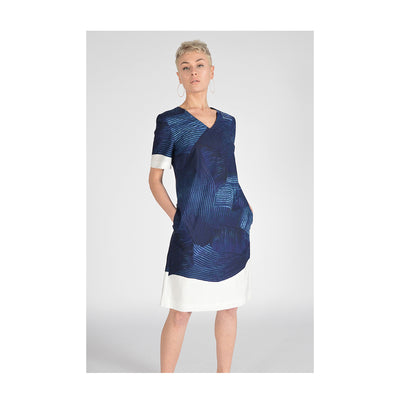 "Dress ""KENZI"" Markerprint navy"