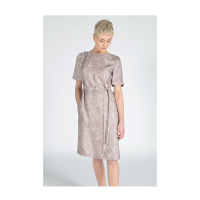 "Dress ""KYRA"" taupe fancy"