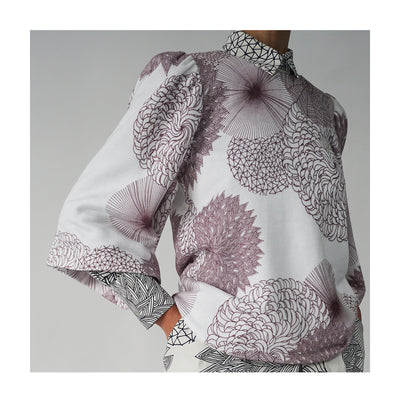 "Sweatshirt ""SUE"" flowers berry"