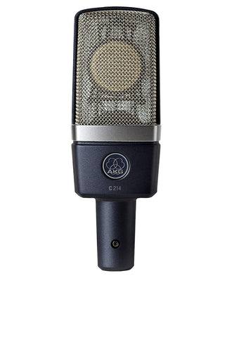 AKG C214 Studio Condensor Mic w/mount, case C-214 - benson-music-shop