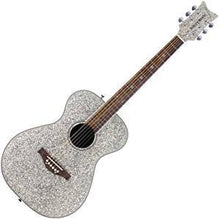Load image into Gallery viewer, Daisy Rock 6 String Acoustic Guitar, Red or Silver Sparkle Pixie