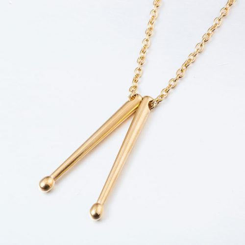Drum Sticks Necklace - benson-music-shop