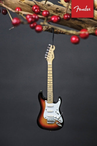 Fender Sunburst Strat – 6″ Holiday Ornament