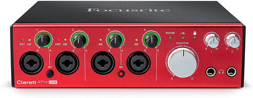 Focusrite - Clarett 4Pre USB 18-in 8-out audio interface