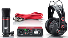 Load image into Gallery viewer, Focusrite  2nd gen Solo USB Interface pack w/Headphones Mic & XLR Cable
