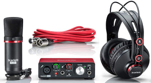 Focusrite Scarlett Solo Studio (3rd Gen) USB Audio Interface pack w/Headphones Mic & XLR Cable - benson-music-shop