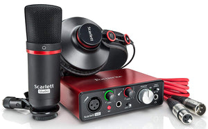 Focusrite Scarlett Solo Studio (3rd Gen) USB Audio Interface pack w/Headphones Mic & XLR Cable