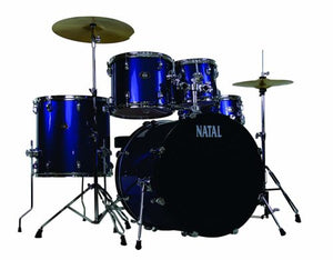 Natal Drums  5 Drum Set, Black or Red