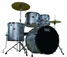 Load image into Gallery viewer, Natal Drums  5 Drum Set, Black or Red - benson-music-shop