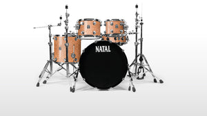 Cafe Racer Drum Kit by Natal - Champagne Sparkle - benson-music-shop