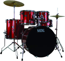 Load image into Gallery viewer, Natal Drums  5 Drum Set, Black or Red