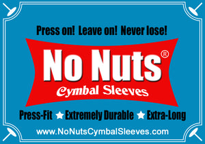 no nuts cymbal sleeves at benson music shop