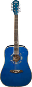 Oscar Schmidt 3/4 Size Dreadnought Acoustic Guitar (High Gloss Blue)