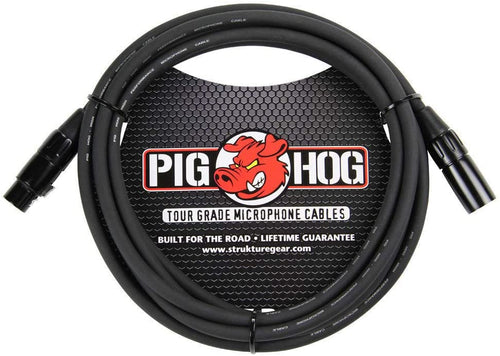 Pig Hog PHM10 8mm Tour Grade Mic Cable, XLR 10ft