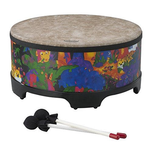 Remo Kids Percussion Gathering Drum - Fabric Rain Forest, 16 Inch