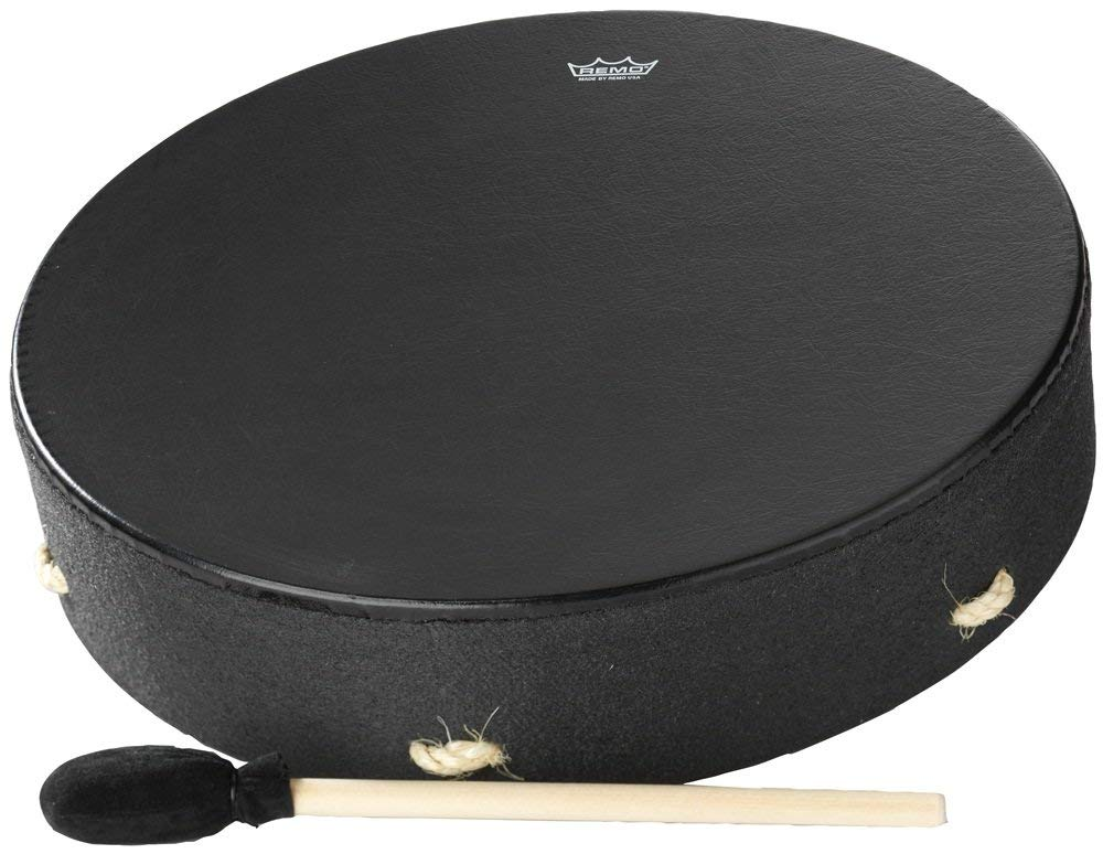 Remo Buffalo Drum - Black Earth, 16