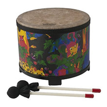 Load image into Gallery viewer, Remo Kids Percussion Floor Tom Drum - Fabric Rain Forest, 10 inch