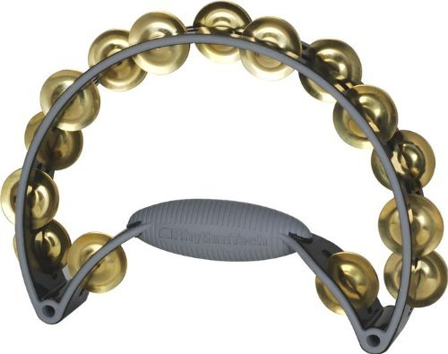 Rhythm Tech Pro Tamborine Black/Black - Brass Jingles - benson-music-shop