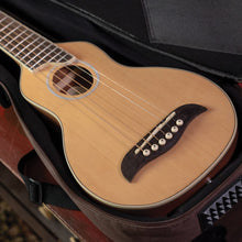 Load image into Gallery viewer, Rover Acoustic Travel Guitar w/gigbag Natural