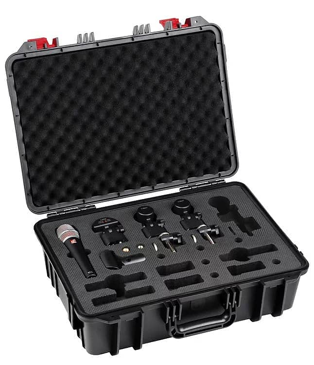 V Pack US Venue 4 Drum Mic Kit with Case and Clamps