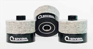 SPINBAL enhances your sound, prevents cymbal wear
