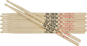 Vic Firth 5A Wood Tip - 6 Pairs!