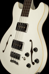 Warwick WGPS Star Bass 4  ELECTRIC PRO SEMI HOLLOW BODY CREAM WHITE w Bag