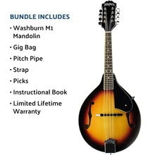Load image into Gallery viewer, Washburn Americana M1-Pack with Gig Bag, Mandolin - benson-music-shop