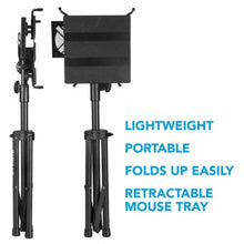 Load image into Gallery viewer, Quik Lok Fully Adjustable Tripod Laptop Holder and Desk, with pull-out mouse tray, LPH-003