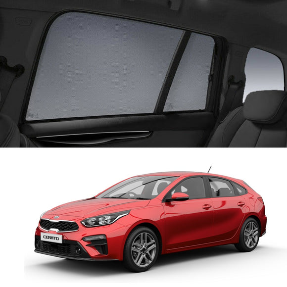 KIA Cerato HatchBack 2019-2020 BD Car Shades | Snap On Magnetic Sun Shades Window Blind