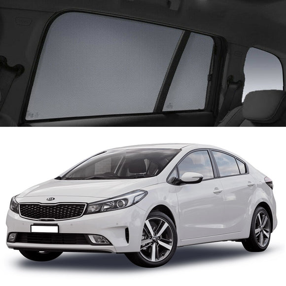 KIA Cerato Hatchback 2013-2019 YD Car Shades | Snap On Magnetic Sun Shades Window Blind