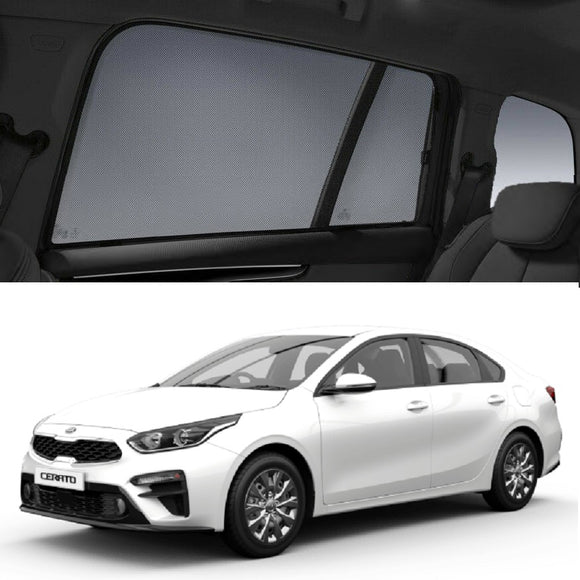KIA Cerato Sedan 2019-2020 BD Car Shades | Snap On Magnetic Sun Shades Window Blind