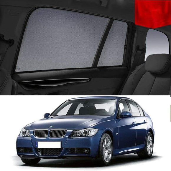 BMW 3 Series 2005-2011 E90 Car Shades | Snap On Magnetic Sun Shades Window Blind
