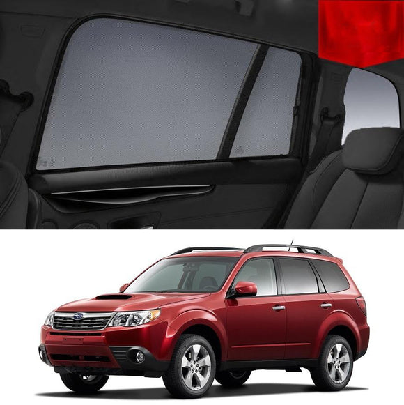 SUBARU Forester 2008-2012 S3   Car Shades | Snap On Magnetic Sun Shades Window Blind