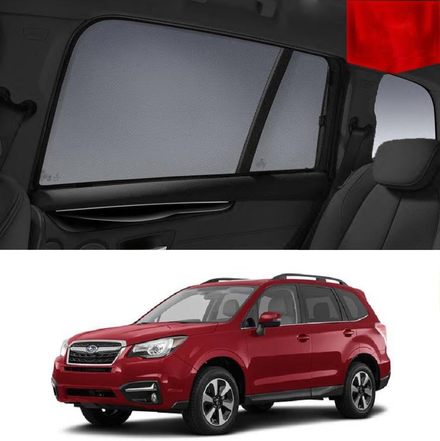 For SUBARU Forester 2012-2018 S4 Magnetic Rear Side Car Window Sun Blind Sun Shade