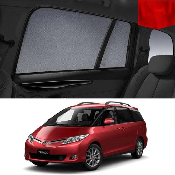 TOYOTA TARAGO 2005-2017 Magnetic Rear Side Car Window Sun Blind Sun Shade Mesh