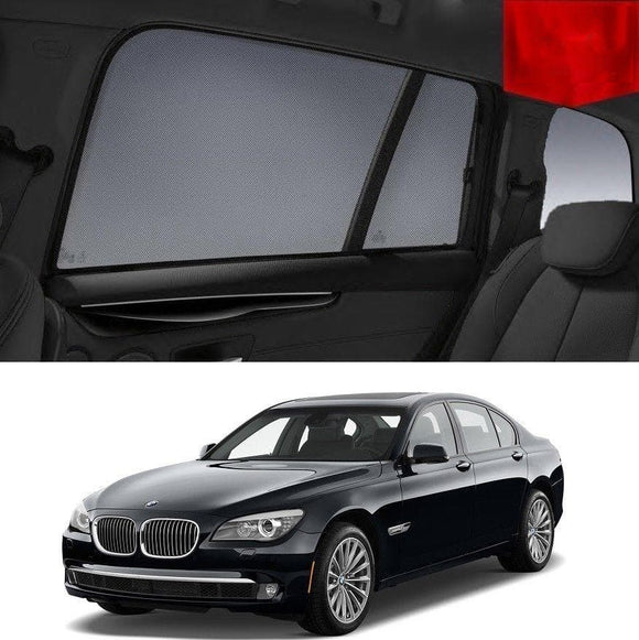 BMW 7 Series 2009-2015 F02  Car Shades | Snap On Magnetic Sun Shades Window Blind