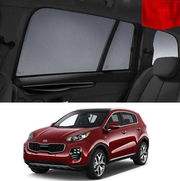 KIA Sportage 2015-2020 QL Car Shades | Snap On Magnetic Sun Shades Window Blind