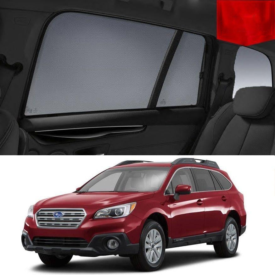 For SUBARU Outback 5GEN 2014-2018 Magnetic Rear Side Car Window Sun Blind Sun Shade