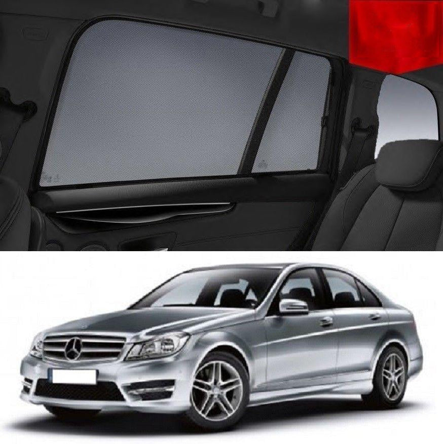 For MERCEDES-BENZ C-Class Sedan W204 2007-2016 Rear Window Sun Blind Sun Shade Mesh