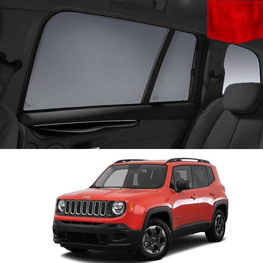 For JEEP  RENEGADE 4D 2015-2019 BU Rear Side Car Window Sun Blind Sun Shade Mesh